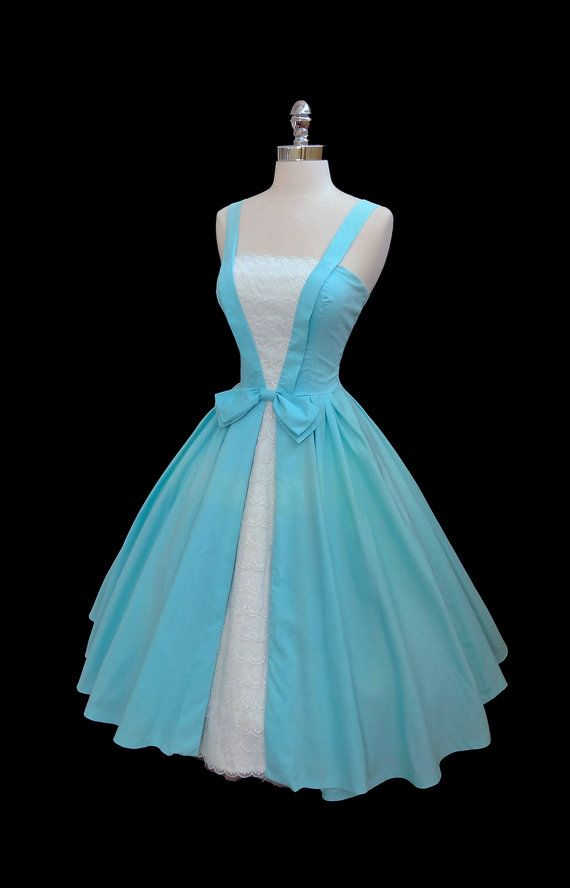 Vintage 1950's Blue Day Dress