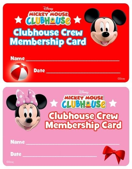 102 best Mickey Mouse Clubhouse images on Pinterest Basket - printable membership cards