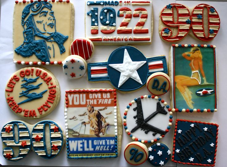 Vintage air force cookies going away party ideas for Air force decoration