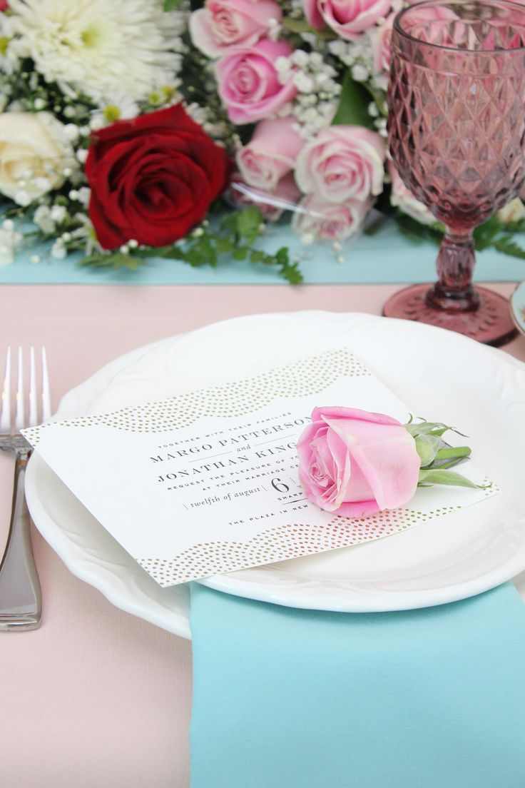 Blush Tablecloths, Tiffany Table Runners And Tiffany Napkins