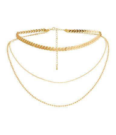 Treradigt halsband   Guld   DAM   H&M SE