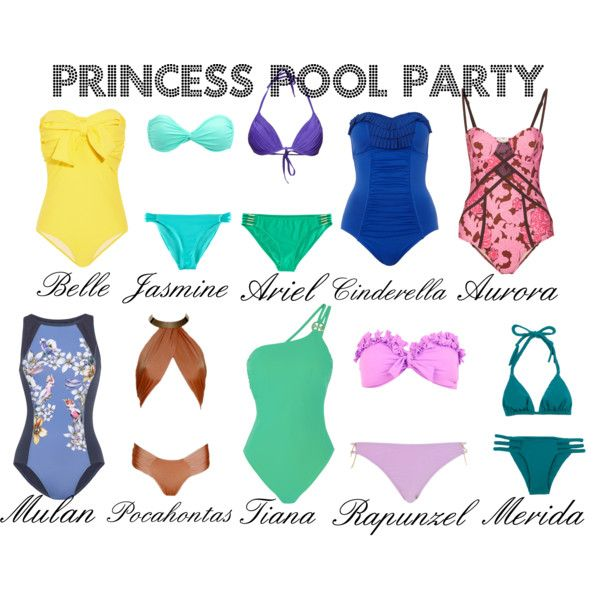 Princess Pool Party. Can I be Belle, Aurora, Mulan, Tiana, and Cinderella?