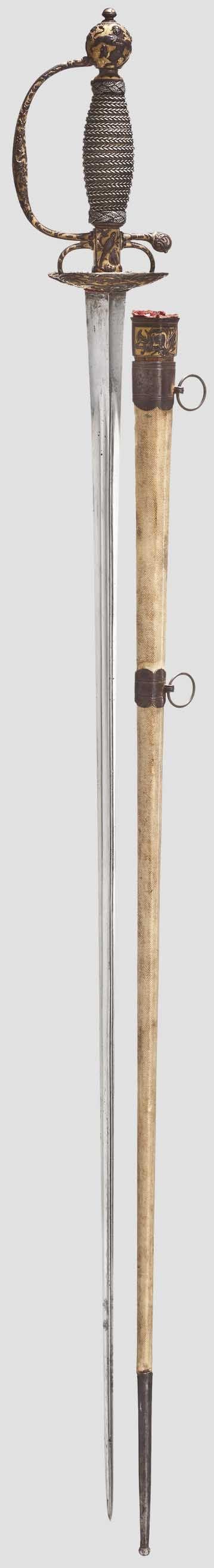 Geschnittener und vergoldeter Galadegen mit Scheide, Frankreich um 1760 - Lot detail - Hermann Historica oHG