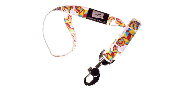 English Bulldog Dog Leash White.. This leash features a sturdy heavy-duty snap hook and strong stitching, so that you can be sure it will bear your bulldog's power! http://www.wuffcollars.com/en/item/English_Bulldog_Leash-112 Item Code: 112