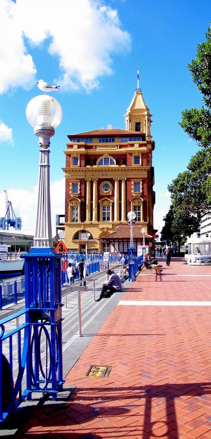 El centro Ferry Building, Auckland, Nueva Zelanda