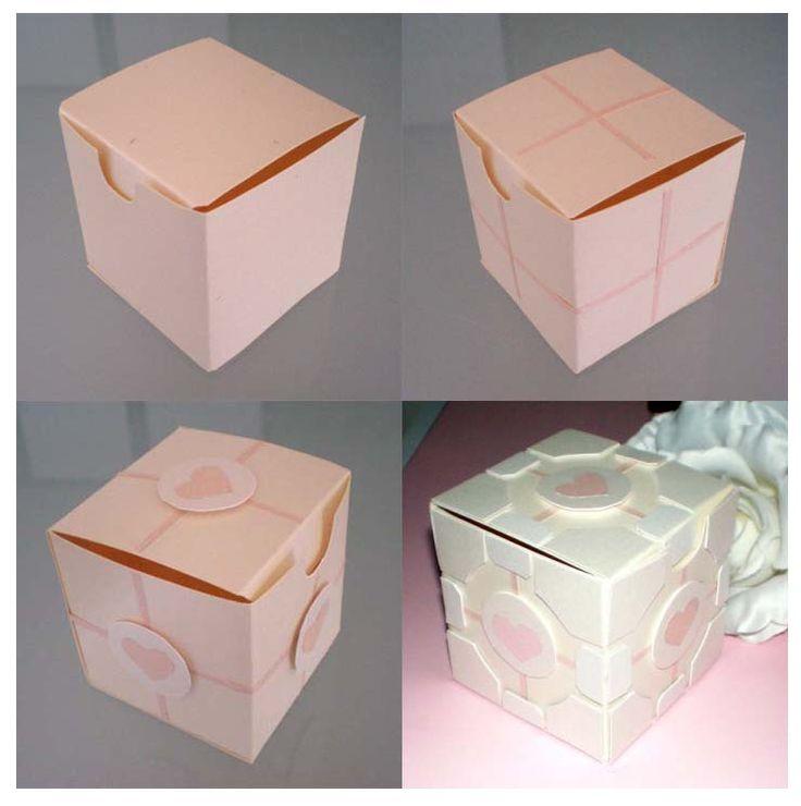 Make your own Portal Companion Cube box