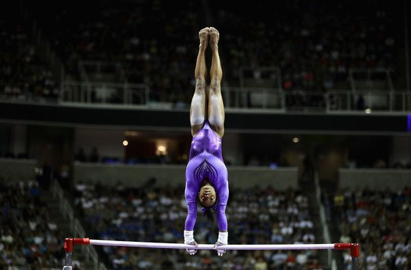 Simone Biles is competes in the uneven bars during Day 1 of the 2016 U.S. Women's Gymnastics Olympic Trials at SAP Center on July 8, 2016 in San Jose, California.