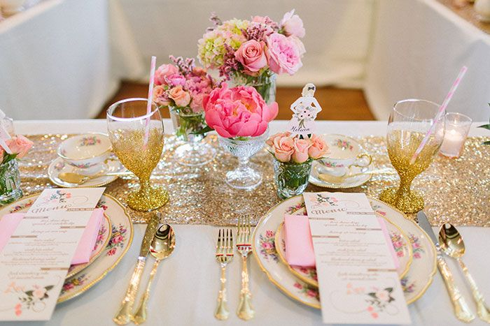 Glam Southern Bridesmaid Luncheon