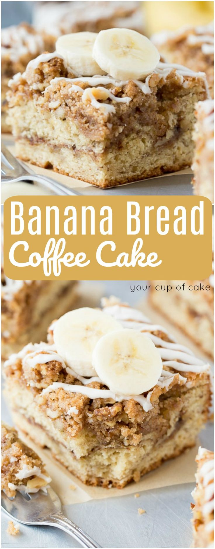 Banana Bread Coffee Cake, THE best coffee cake you'll ever eat!
