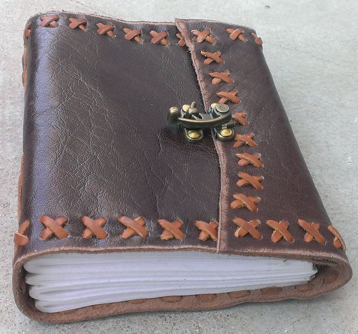 Ultra Soft Genuine Buffalo Leather Jounral Diary - Handmade Paper - Rustic GIFT