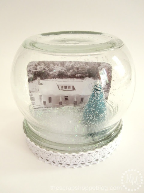 The Scrap Shoppe: {Workshop Wednesday} Personalized Snow Globe from @Michele {The Scrap Shoppe}
