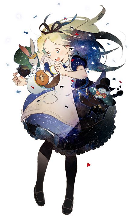 Alice. This looks Miyazaki-ish. DEAR GOD, IF HE MADE AN ALICE IN WONDERLAND I DON'T THINK I COULD HANDLE THE AWESOME.