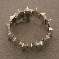 "Antonio Pineda ""Zig-Zag"" Sterling Silver Bracelet, Handmade Sterling Silver - Gallery 925"