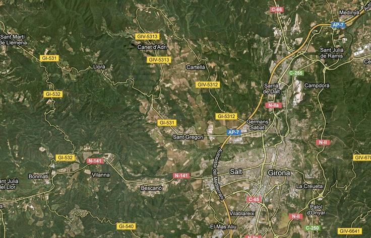 Wikiloc - route Llorà - Girona - Llorà, Catalunya (España)- GPS track