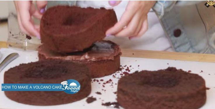 HOW TO MAKE A VOLCANO CAKE