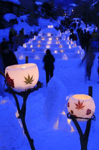 Otaru snow light of the road | From Sapporo spacious and !!'m surprised Hokkaido