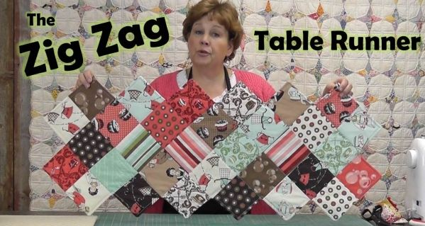 Zig Zag Table Runner -- how to make the sawtooth edge.