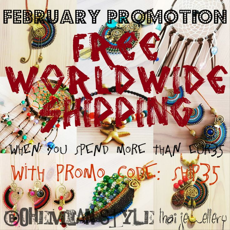 Free worldwide shipping (for purchases over EUR35) throughout February.