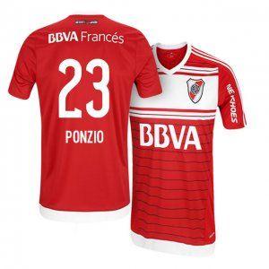 16-17 River Plate Away Cheap #23 Ponzio Replica Football Shirt [I00988]