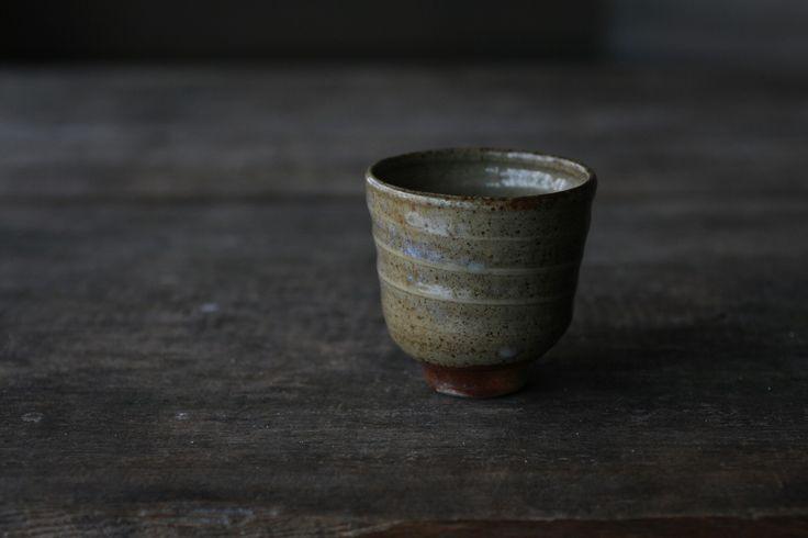 Celadon yunomi by Jyrki Repo Ceramics