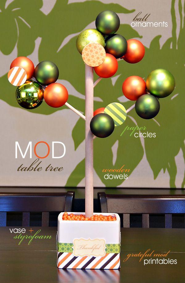 """DIY Tutorial: Mod """"Table Tree"""" Centerpiece"""