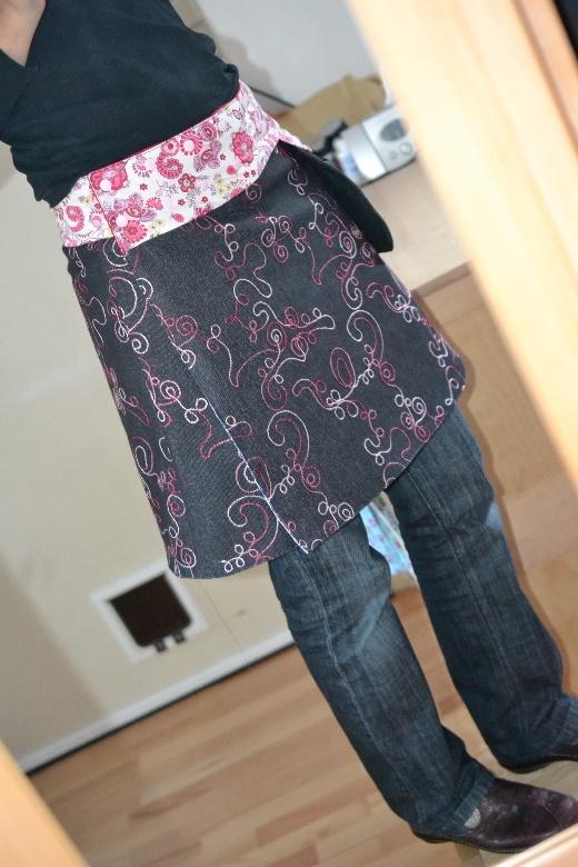 Wickelrock mit Hüfttasche