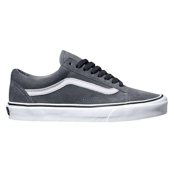 OLD SKOOL suede steel grey true white VANS