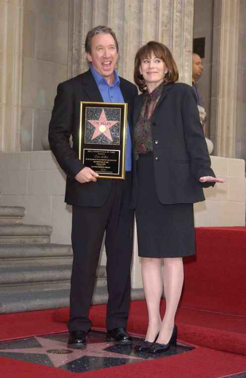 Historic Photograph of Tim Allen And Patricia Richardson At His Hollywood Walk Of Fame Ceremony.