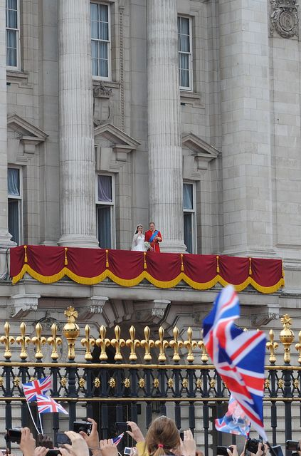 Kate and William ~ The Royal Wedding on April 29, 2011.  The Duke and Duchess of Cambridge, William and Catherine Elizabeth, greet the crowds from the balcony at Buckingham Palace following their wedding at Westminster Abbey.