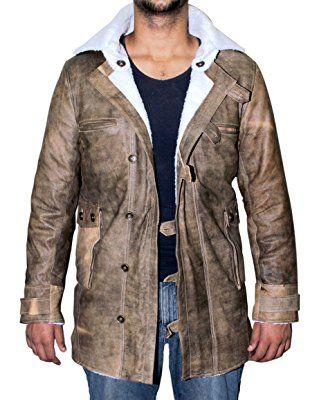 Distressed Brown Real Leather Coat Men Sheepskin Jacket ►BEST SELLER◄
