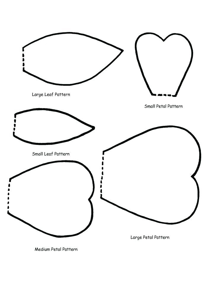 Rose Paper Flower Petal Templates Printable A Giant Large Template