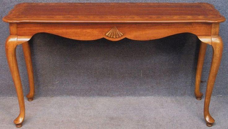 Cherry Wood, Burr Walnut & Mahogany Side / Hall / Console Table  #SideHallConsoleTable