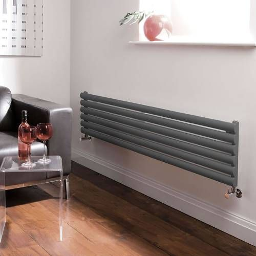 Hudson Reed Revive Design Radiator Horizontaal 1780mm x 354mm 1128 Watt - Antraciet