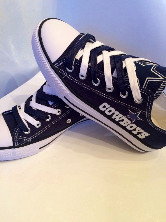 Dallas cowboys women's tennis shoes by Sportzfanatics on Etsy