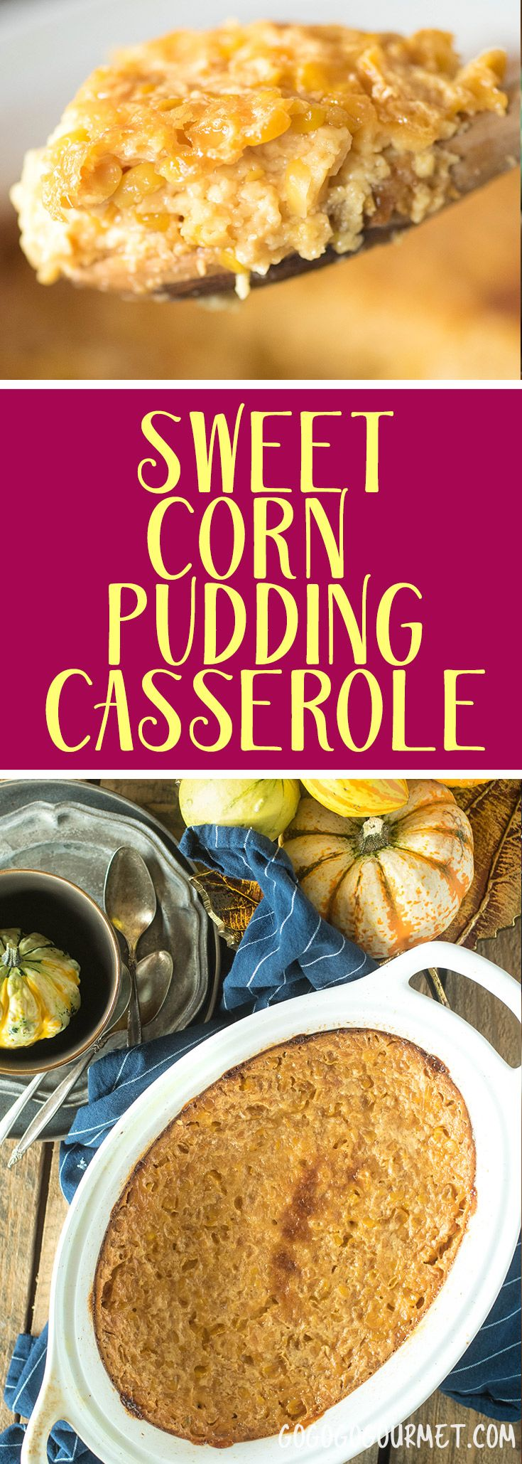 This corn pudding casserole is just a little sweet and a family favorite