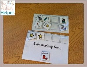 """I am working for..."" Positive Reinforcement System with Visual Choice Board - I use this DAILY :)"