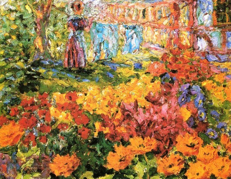⊰ Posing with Posies ⊱ paintings & illustrations of women & children with flowers - Emil Nolde, Woman in Garden