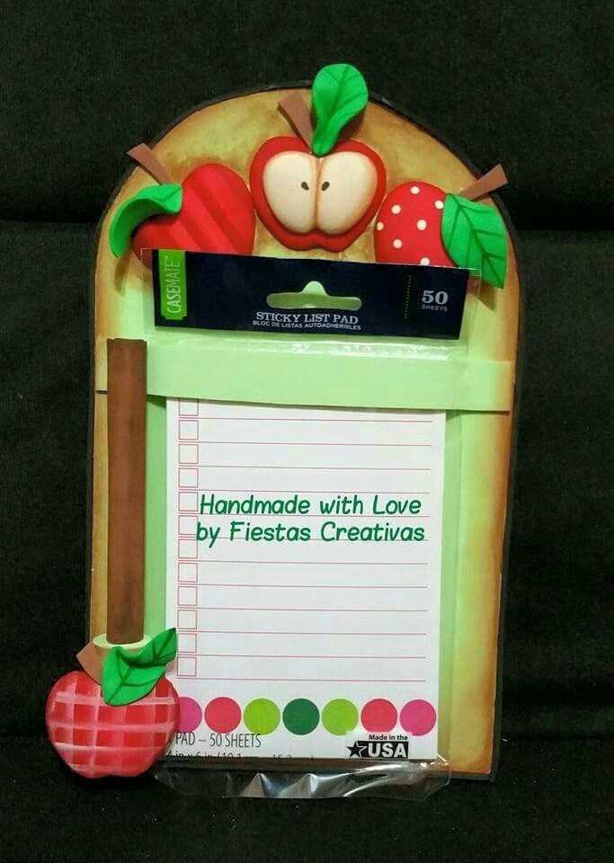 Porta notas con bol grafo para la cocina elaborado en goma - Manualidades en familia ...