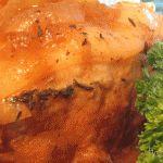 Olla de barro albaricoque cerdo asado