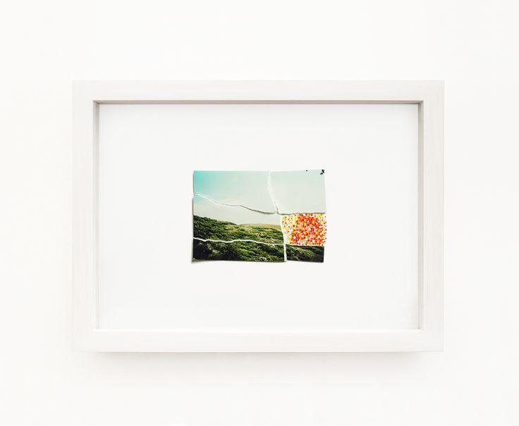 Mnemosine, 2014 , acrilico e stampa fine art su carta fotografica, 32,5 x 44,5 x 5 cm