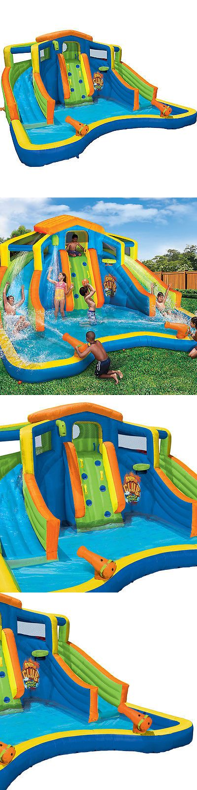Water Slides 145992: Banzai Inflatable Adventure Club Dual Slide And Pool Backyard Water Park -> BUY IT NOW ONLY: $679.99 on eBay!