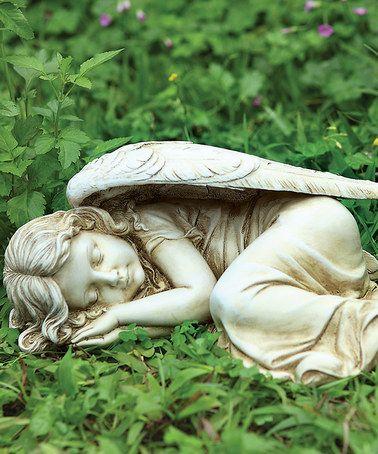 Another great find on #zulily! Sleeping Angel Garden Statue #zulilyfinds