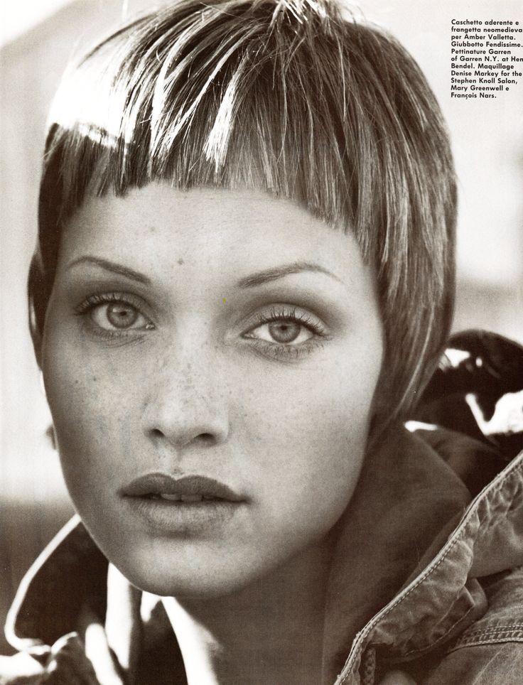 short fringe--Vogue Italia May 1993 The Girls Photographer: Steven Meisel