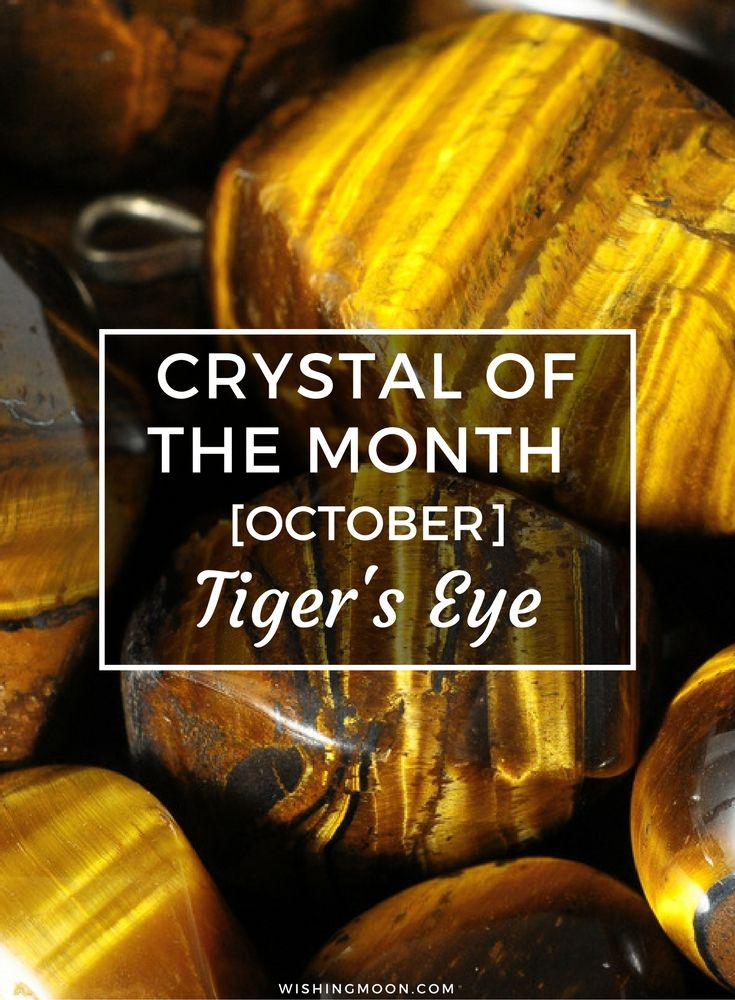 Crystal of the Month October 2016 | Each month we share a different healing crystal with our readers and this month we're focusing on Tiger's Eye. Find out what this wonderful crystal can do for you...