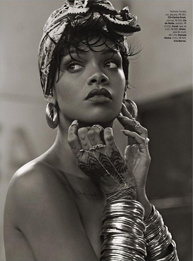 Rihanna in Vogue Brazil 2014                                                                                                                                                                                 Mais