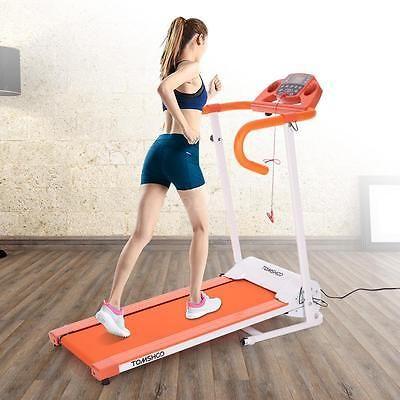 500W Folding Electric Treadmill Power Motorized Jogging Machine Orange G1Q3