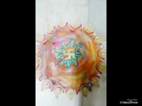 Small n quick rangoli // finger rangoli by nidhi jain - YouTube