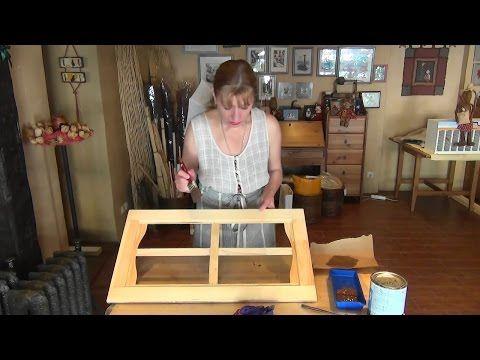 Как профессионально окрасить мебельный фасад, окно одной кистью - YouTube