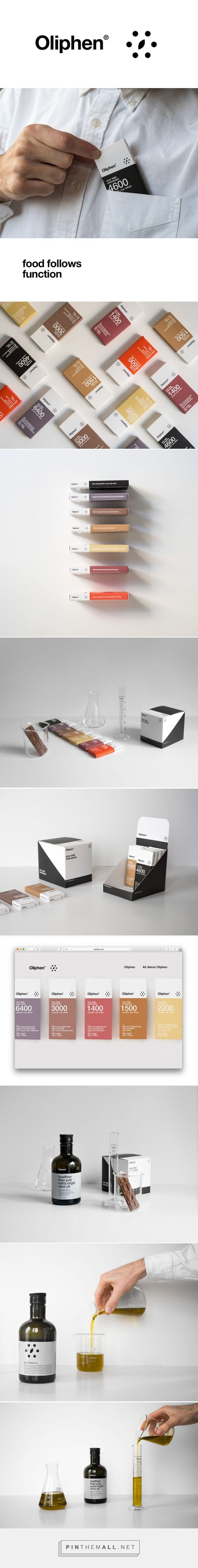 Oliphen - Food Follows Function packaging designed by Typical. - http://www.packagingoftheworld.com/2015/12/oliphen-food-follows-function.html