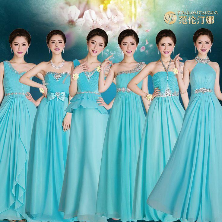 Vestidos de damas de honor en azul turquesa